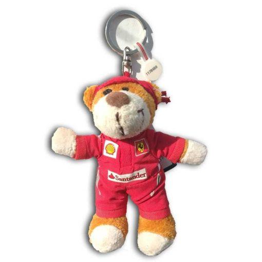 2018, Piros, 11 cm, Ferrari Plüss maci Kulcstartó