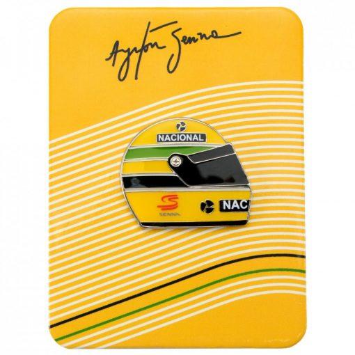 2015, Sárga, Senna 1990 Helmet Kitűző